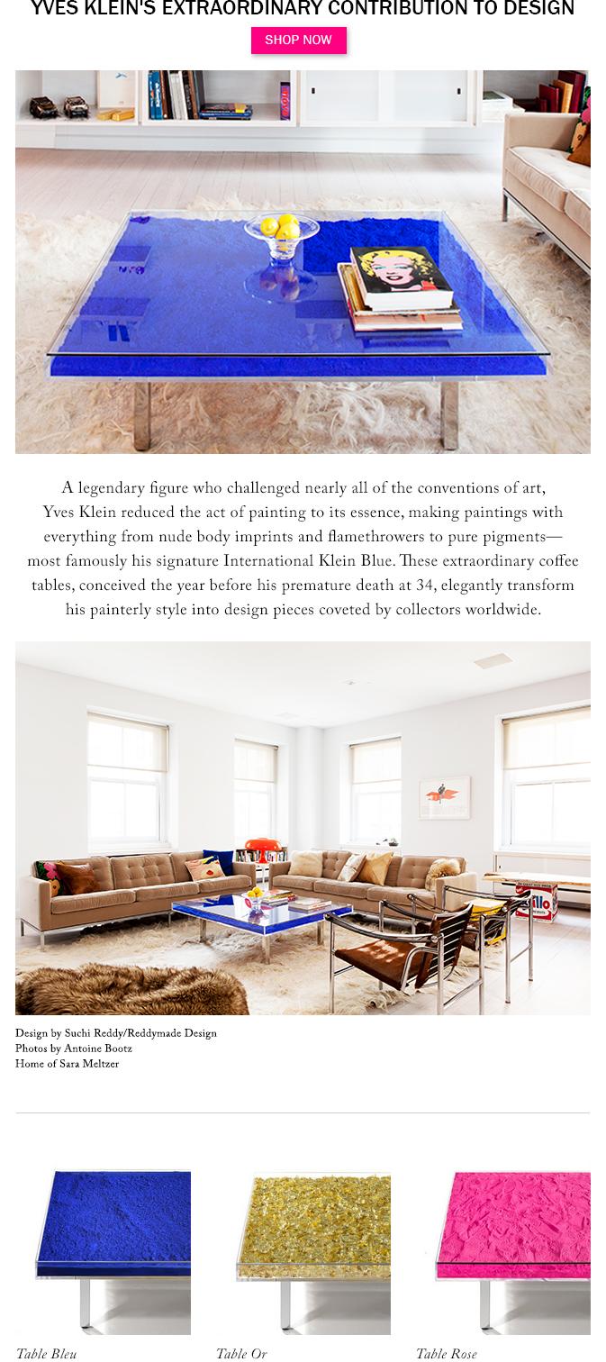 Yves Klein's Extraordinary Contribution to Design